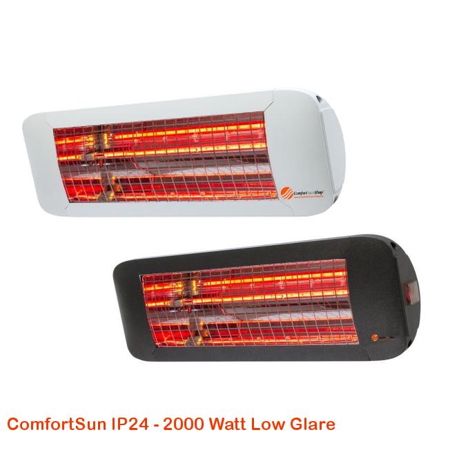 ComfortSun IP24 - Low Glare 2000 Watt-cat©www.comfortsun-heating.com