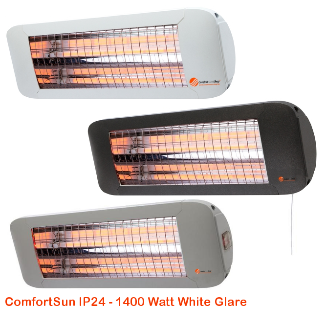 ComfortSun IP24 -White Glare 1400 Watt-cat©www.comfortsun-heating.com