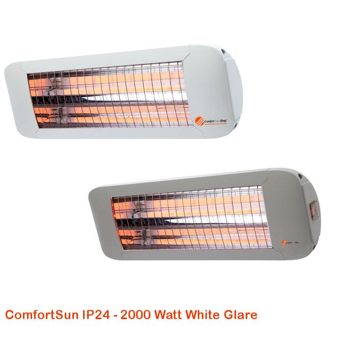 ComfortSun IP24 -White Glare 2000 Watt-cat©www.comfortsun-heating.com