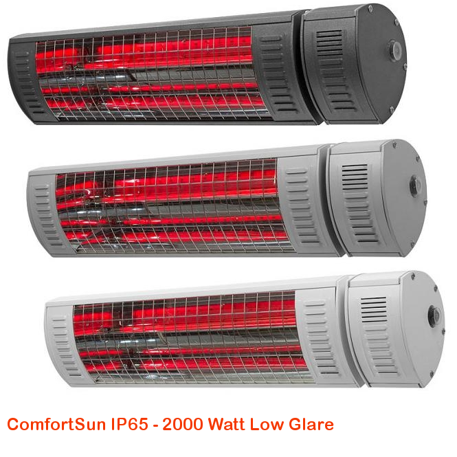ComfortSun IP65 - Low Glare 2000 Watt-cat©www.comfortsun-heating.com